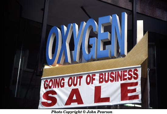 Oxygen for sale